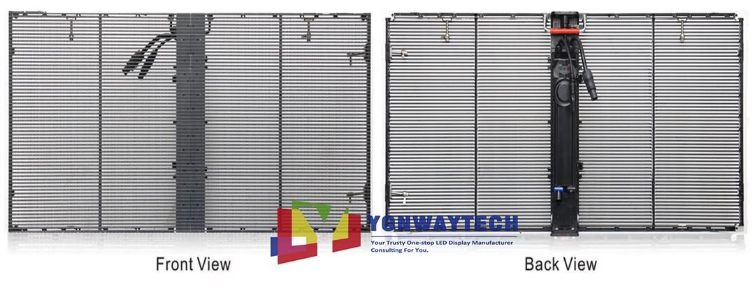 Indoor Outdoor Window Curtain Transparent LED Screen (2)