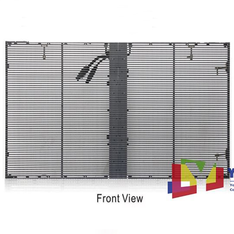 Indoor Outdoor Window Curtain Transparent LED Screen Featured Image