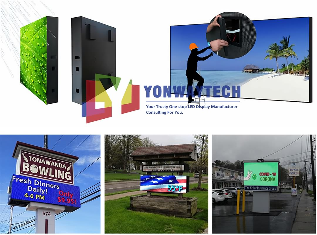 Outdoor Front Maintain LED Display Screen,Advertising Digital Billboard (6)