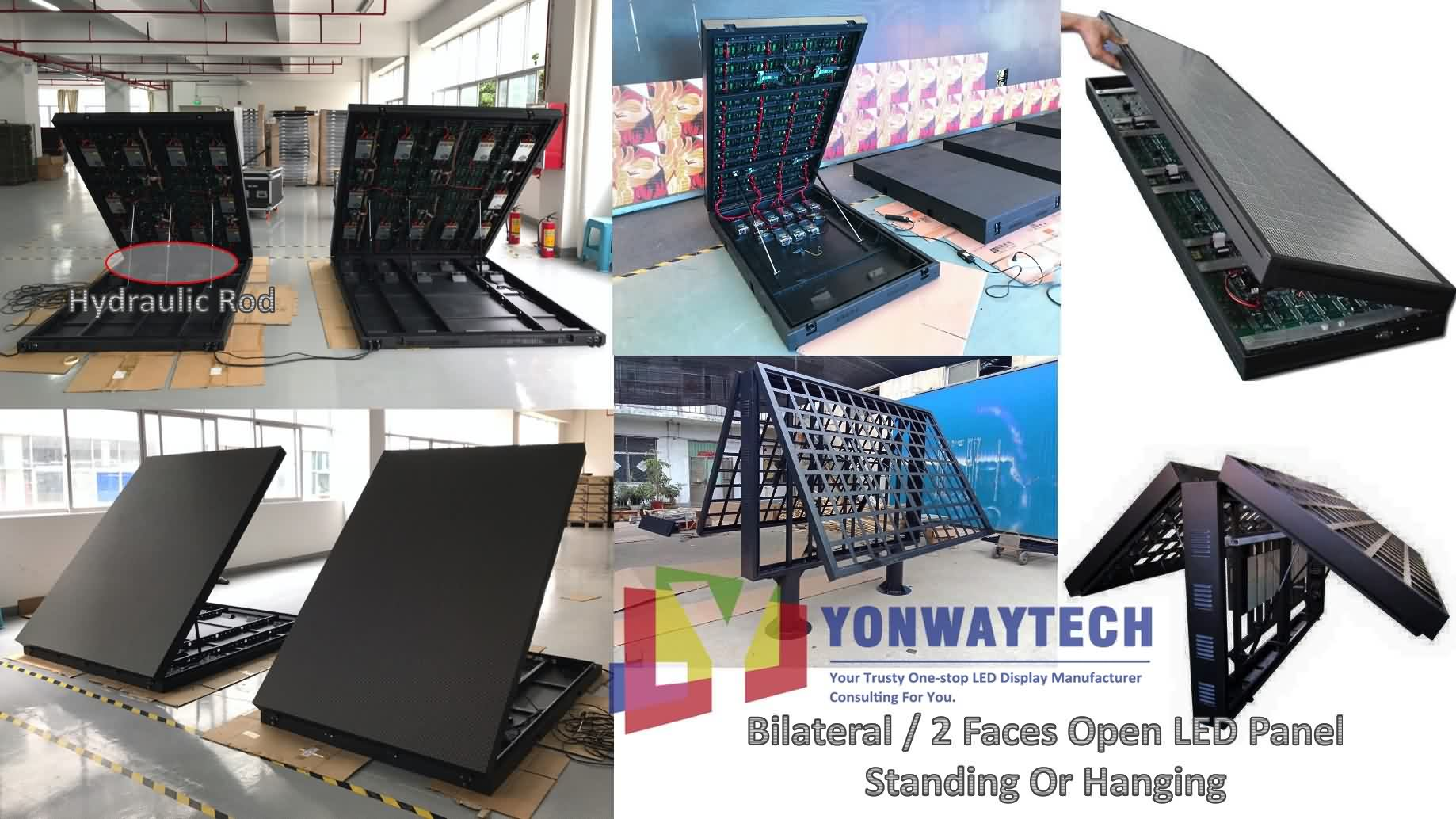 Outdoor Front Open LED Screen,Advertising Digital LED Billboard (3)