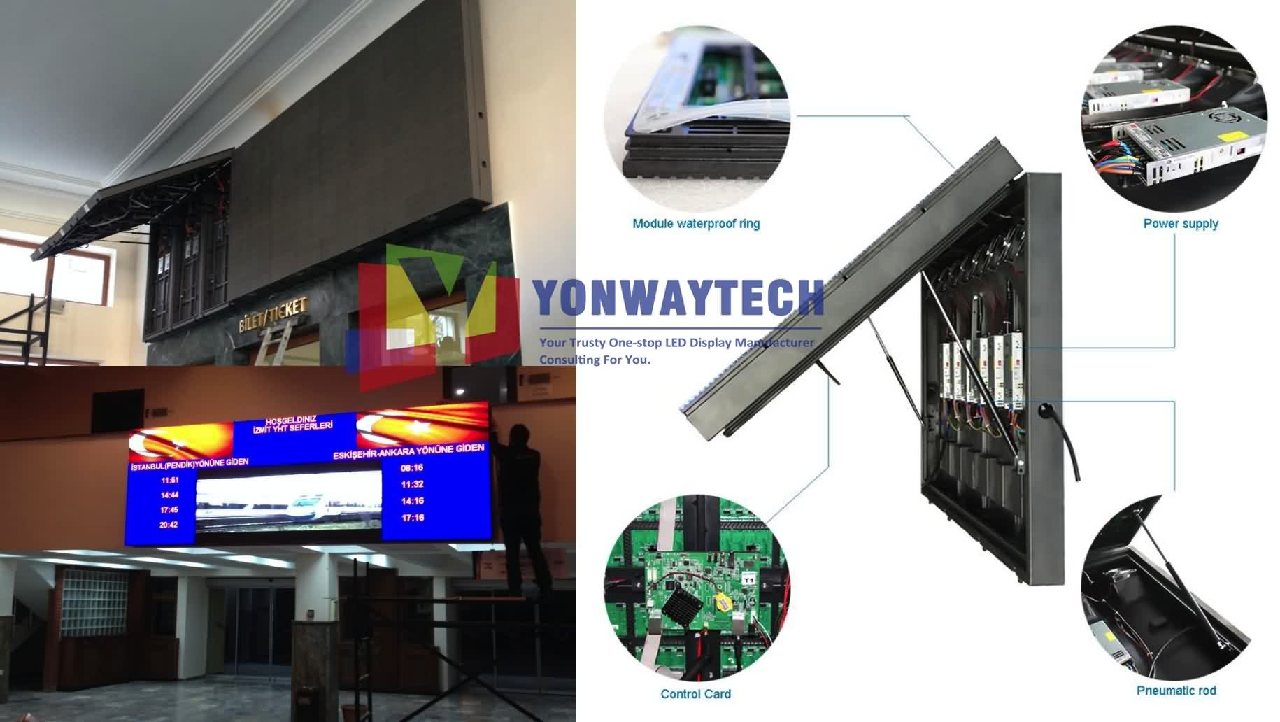 Outdoor Front Open LED Screen,Advertising Digital LED Billboard (5)